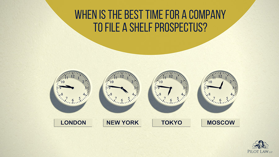 The best time for a company to file a shelf prospectus term.
