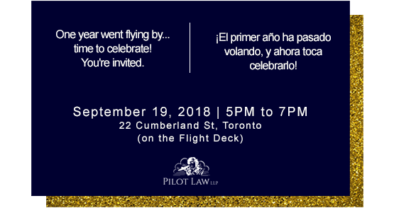 Pilot Law LLP's 1 year anniversary