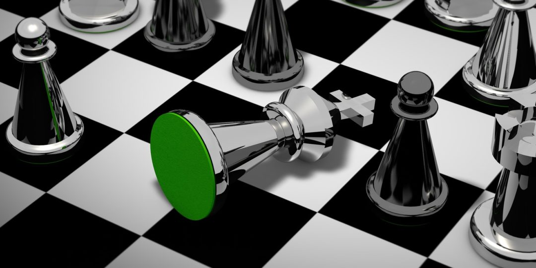 A chess game that illustrates the negotiation process