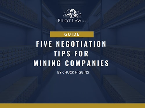 Five Negotiation Tips for Mining Companies